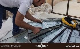 ساخت گنبد شیشه ای - آماتیس استدیو - amatisstudio