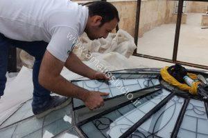 ساخت گنبد شیشه ای