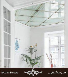 سقف شیشه ایی ساده کاربرد های سقف کاذب آماتیس