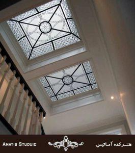سقف شیشه ایی مربعی کاربرد های سقف کاذب آماتیس