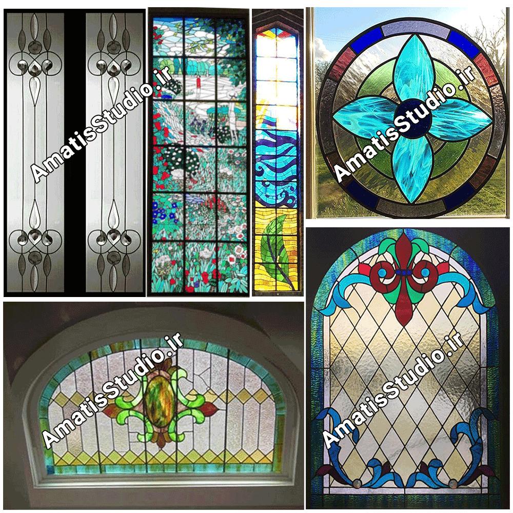 تزئینات شیشه ایی پنجره