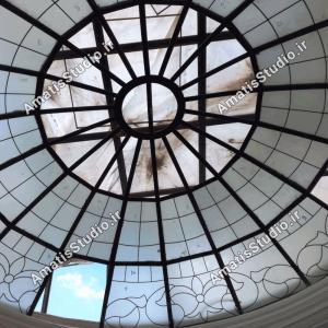 گنبد شیشه ایی عظیمیه در پنت هاوس ساختمان5