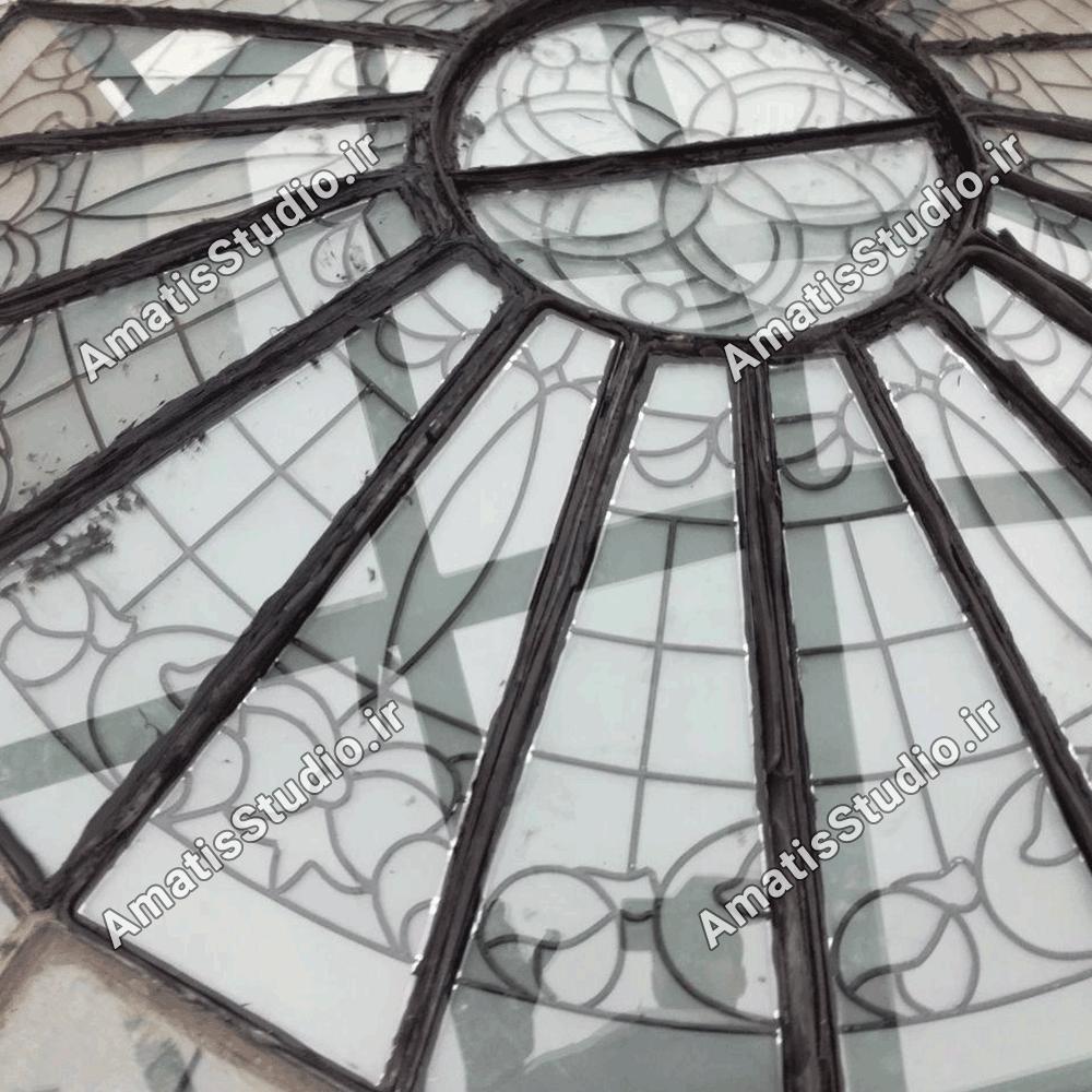 گنبد شیشه ایی عظیمیه در پنت هاوس ساختمان7