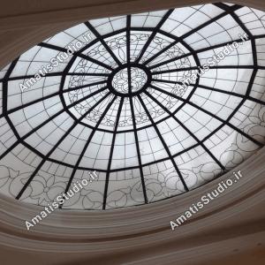 گنبد شیشه ایی عظیمیه در پنت هاوس ساختمان8