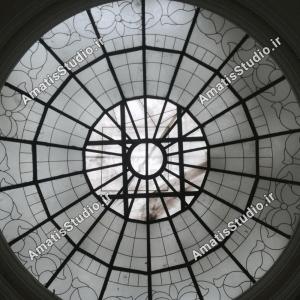 گنبد شیشه ایی عظیمیه در پنت هاوس ساختمان