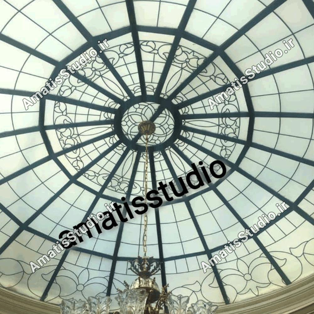 گنبد شیشه ایی عظیمیه در پنت هاوس ساختمان3
