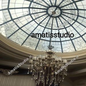 گنبد شیشه ایی عظیمیه در پنت هاوس ساختمان4