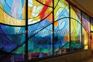 شیشه رنگی تزئینی